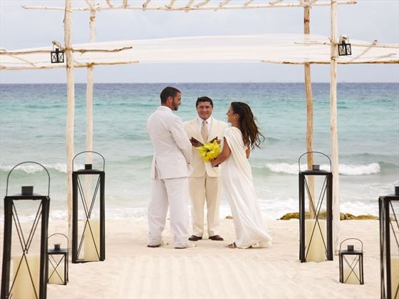 Beach wedding at Viceroy Riviera Maya