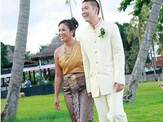 Newlyweds at The Vijitt Resort