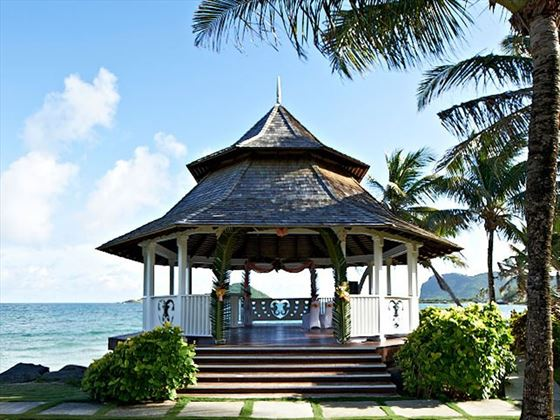The oceanfront wedding gazebo