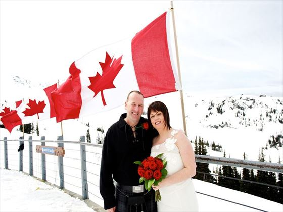 Whistler & Blackcomb Mountains Bride & Groom