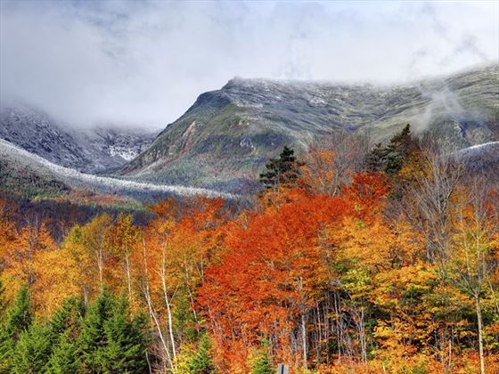 The White Mountains of New Hampshire in the fall