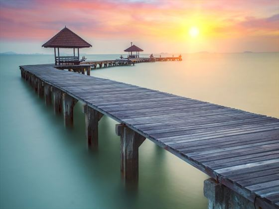Wooden bridge on Koh Samui