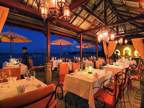 Zazen's restaurant beachfront terrace at Zazen Boutique Resort
