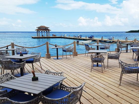 Canoa Deck overlooking the Caribbean Ocean