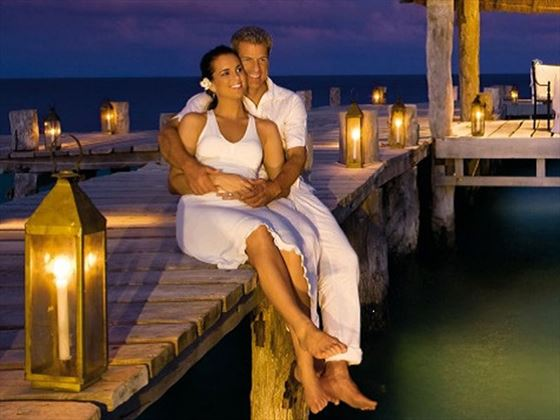 Relaxing honeymoon moments