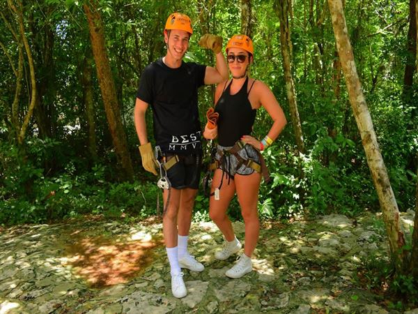 georgina lee zip lining
