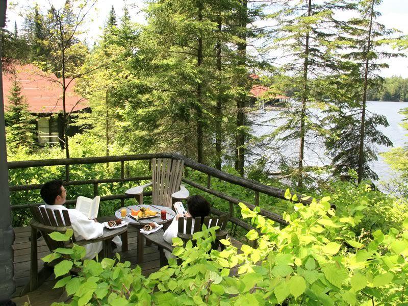 Arowhon Pines Resort Algonquin Park cabin deck