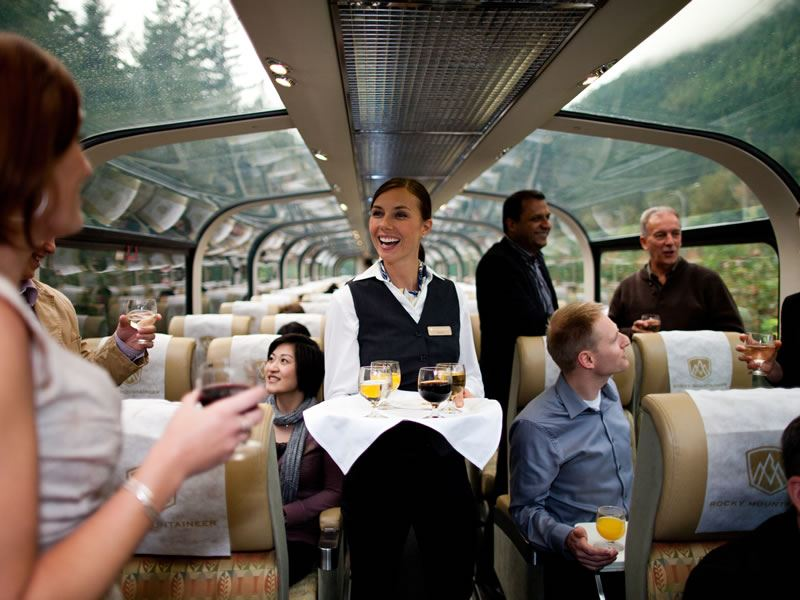 Service in GoldLeaf Service Rocky Mountaineer CR
