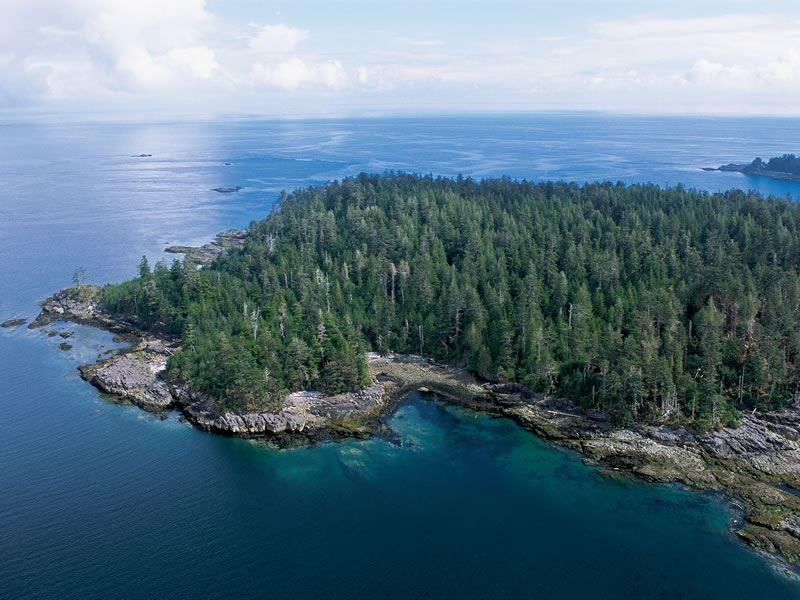 aerial view haida gwaii