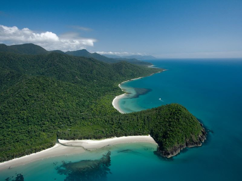 aerial view of cape tribulation   tourism images