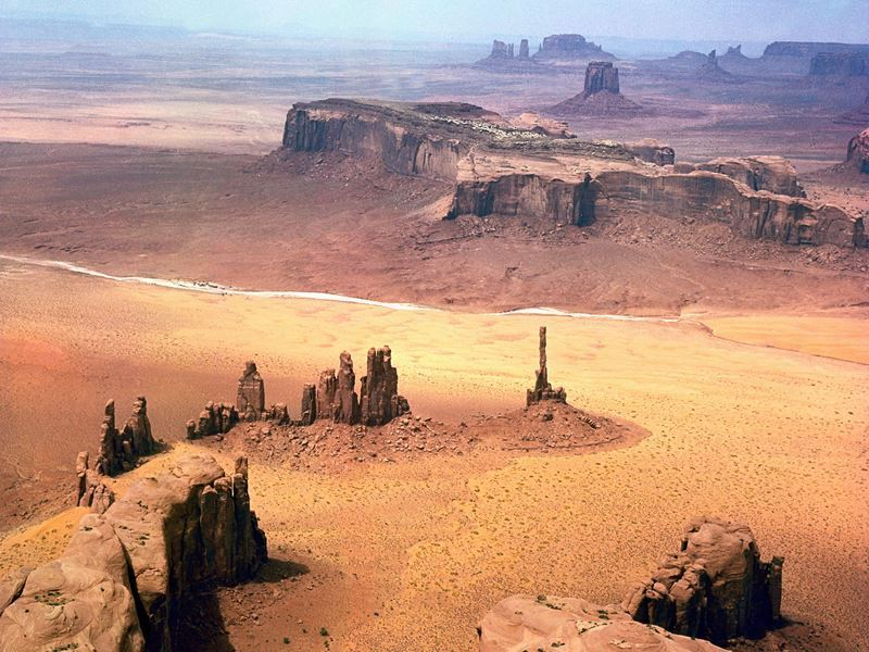 aerial view of monument valley utah