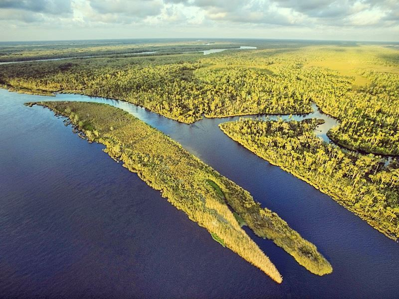 aerial view of the everglades national park