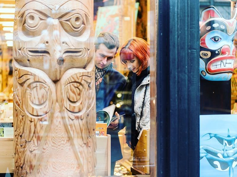 arts and craft shopping in gastown