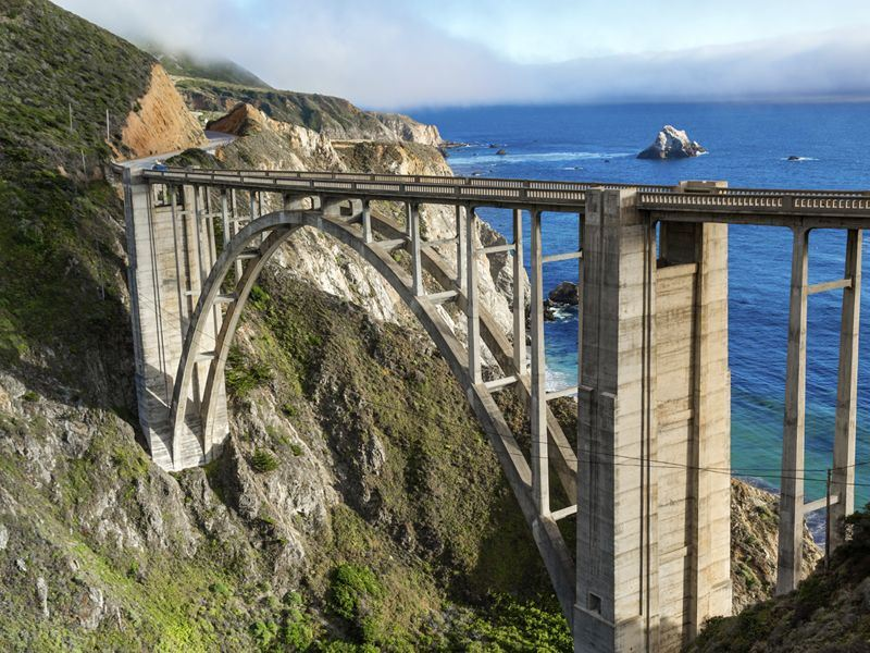 bixby bridge on route 1 california