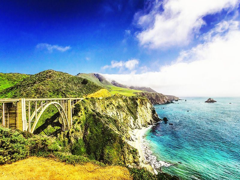 bixby bridge state route 1 on the california coastline