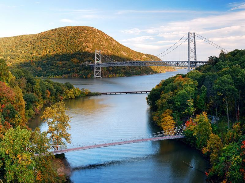 bridges spanning hudson river new york state