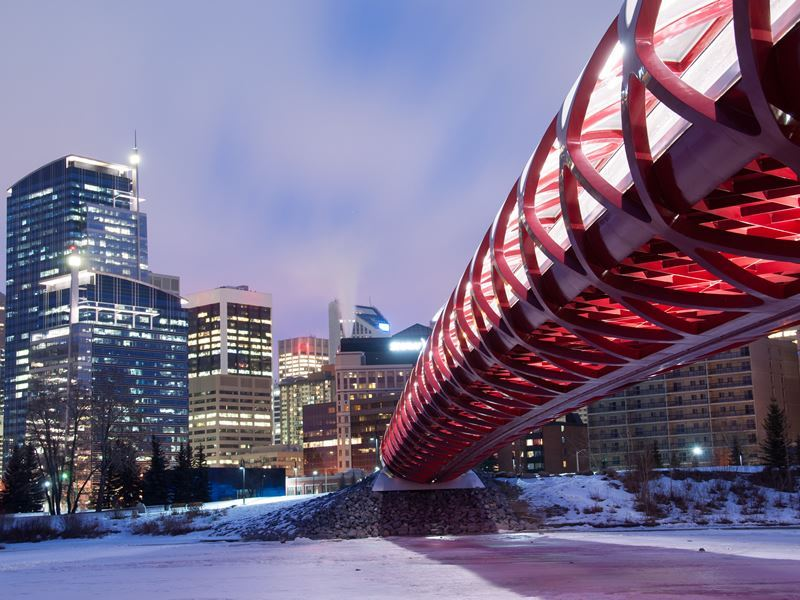 calgary skyline pedestrian bridge