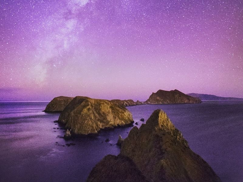 channel islands national park at night