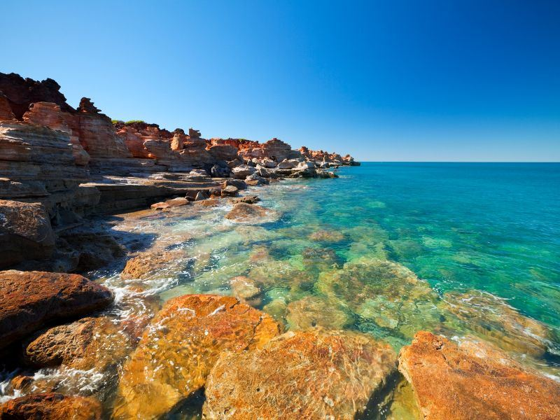 coastal cliffs in broome
