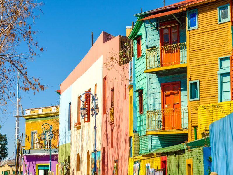 colourful buildings in buenos aires