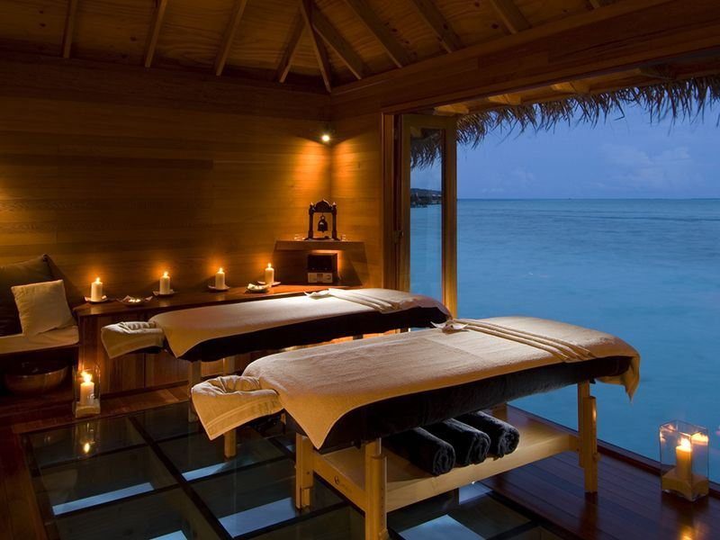 conrad maldives over water spa