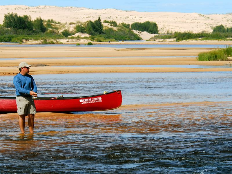 fishing at athabasca sand dunes provincial park