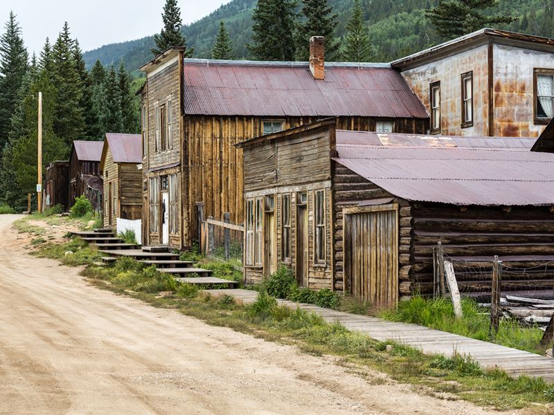 The ghost town on St Elmo, Colorado