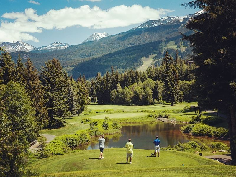 golfers on the fairway at whistler golf club