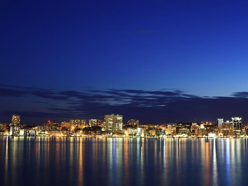 halifax waterfront at twilight