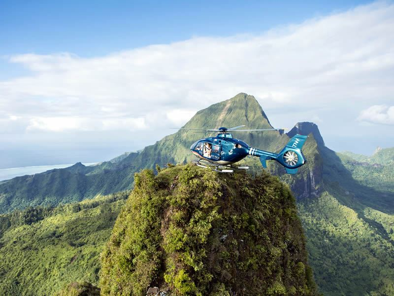 helicopter ride tahiti