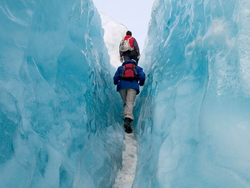hiking through franz josef glacier