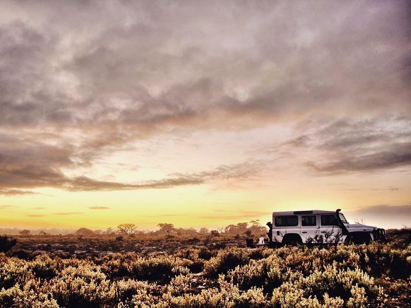 jeep driving the nullarbor plain south australia