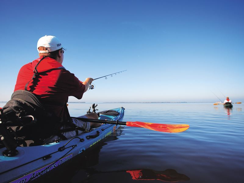 kayak fishing in the waters of fort myers
