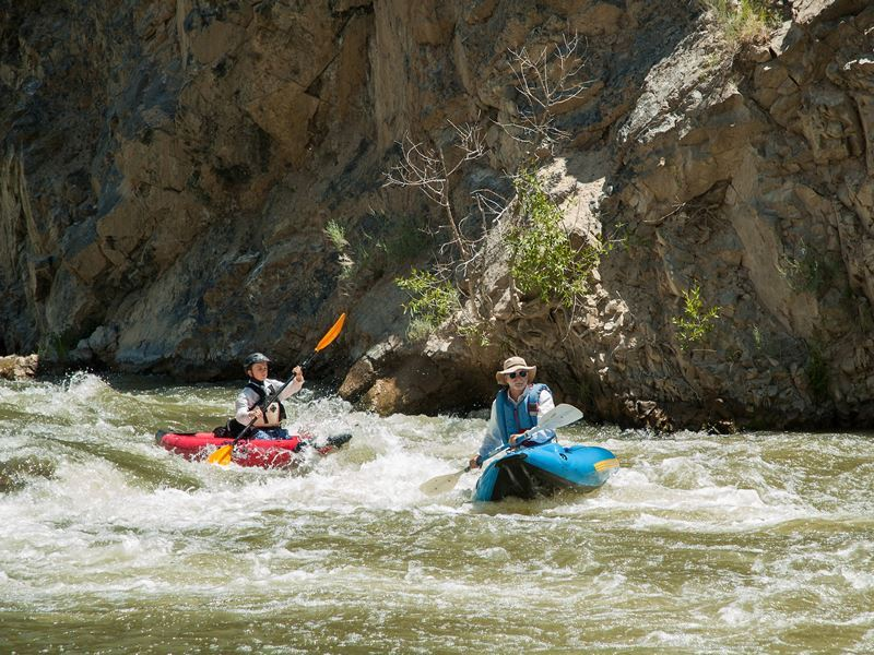 kayaking on the weber river near ogden utah