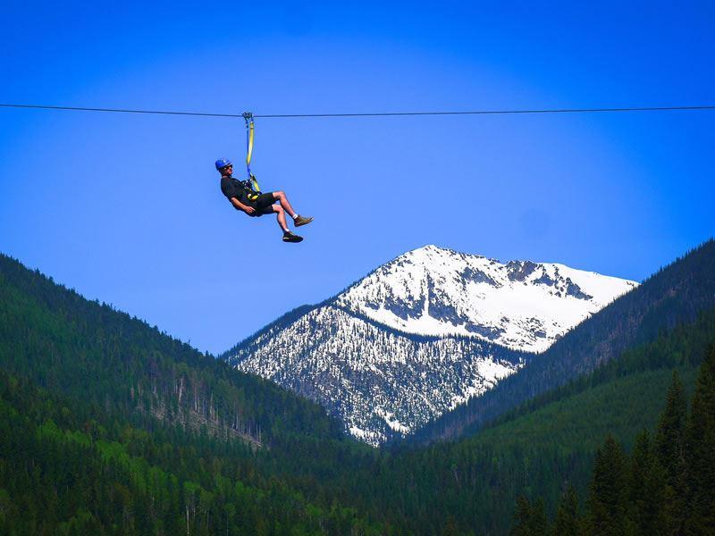 kokanee mountain zipline nelson bc