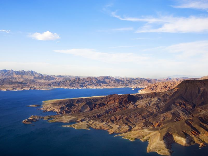 lake mead late afternoon sun