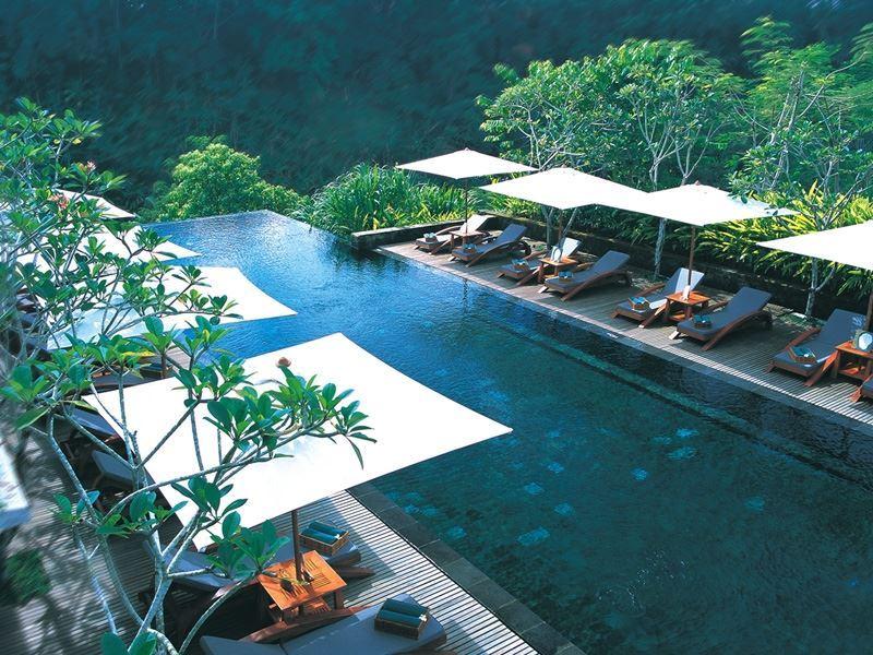 Aerial View Main Pool at Maya Ubud Resort & Spa
