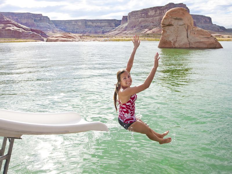 making a splash on lake powell
