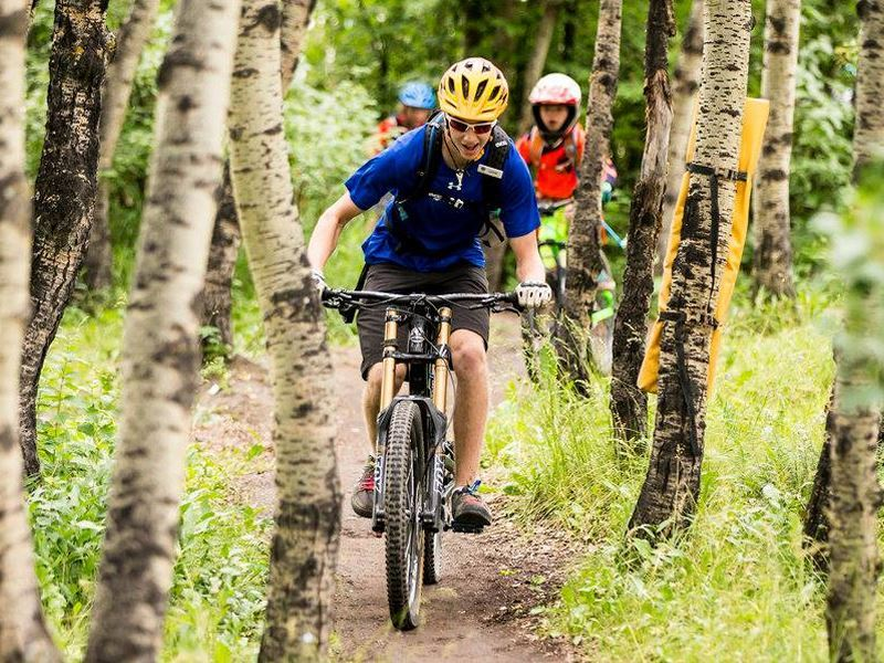 mountain biking at winsport calgary