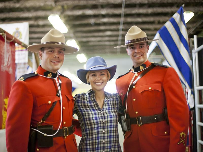 mounties at calgary stampede