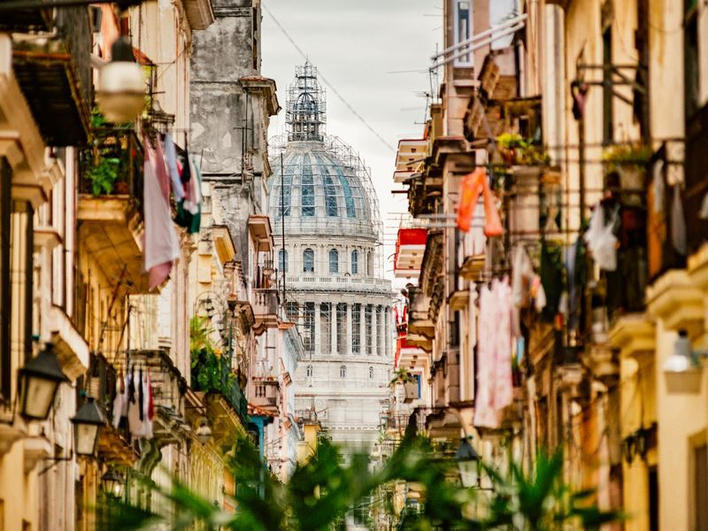 Exploring the narrow streets of Old Havana