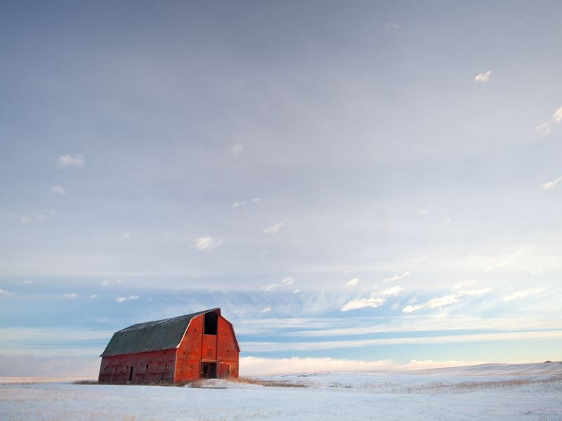 old red barn prairie alberta