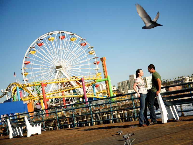 santa monica pier by day