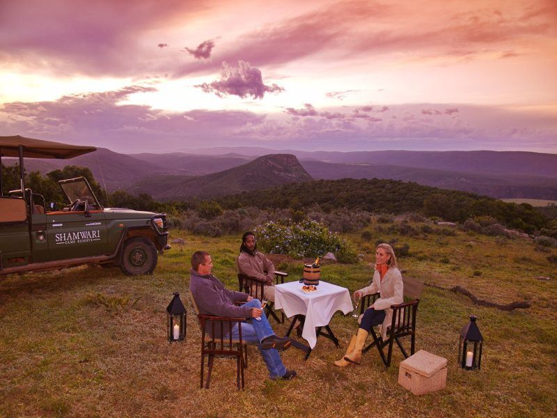 shamwari private game reserve sundowners