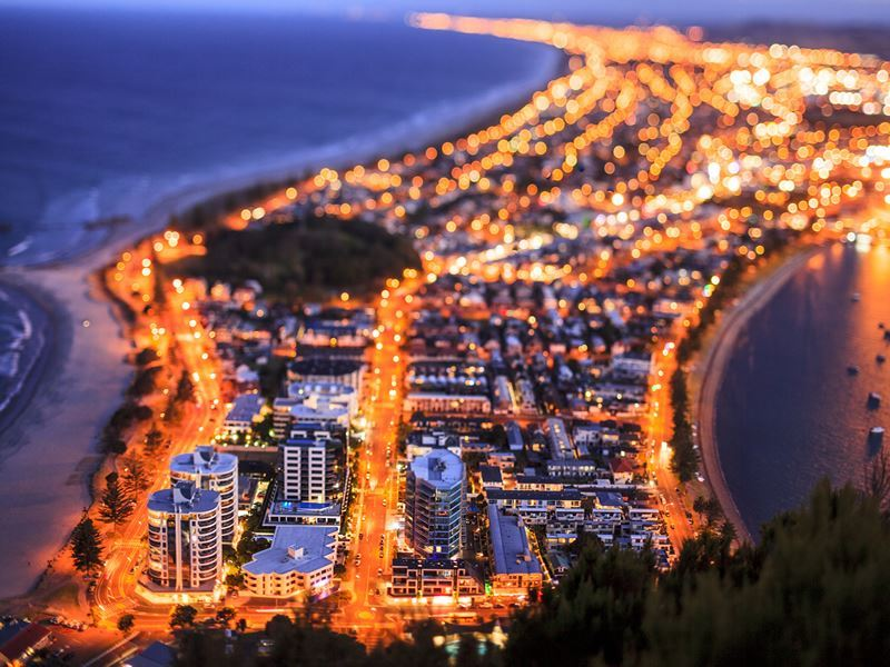 tauranga at night north island