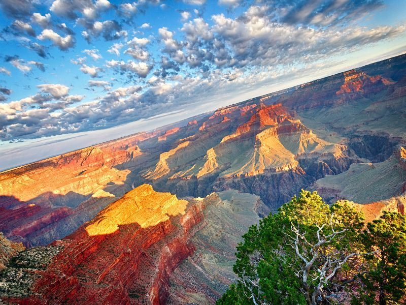 the vivid colours of the grand canyon