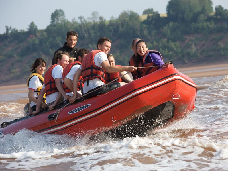 tidal bore rafting fundy shore