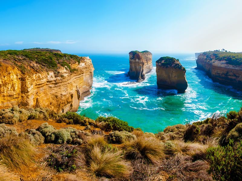 twelve apostles rocks by the great ocean road