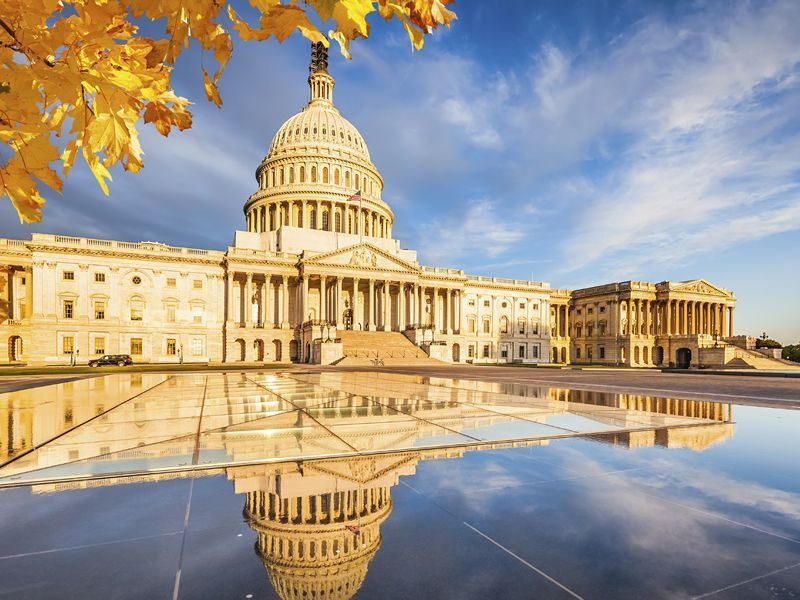us capitol building in the fall