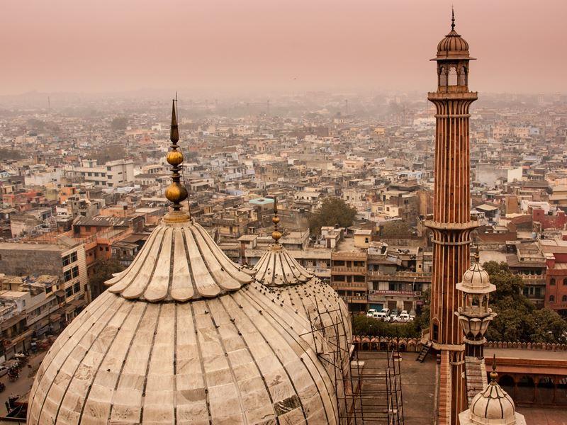 view delhi skyline